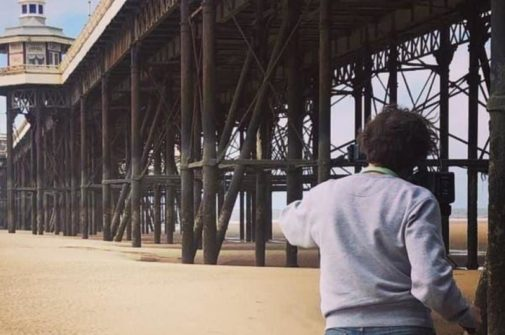 filmmaker clare richards shooting at blackpool pier for her film