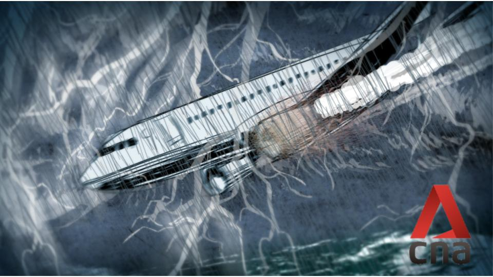 Plane crashing animation thumbnail for To Live Channel News Asia title sequence by Studio Rarekind