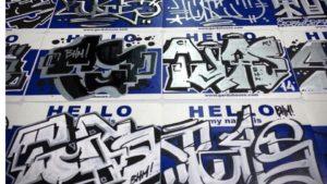 sticker sheet from tutu graff