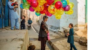 balloon seller photographic print by james longley